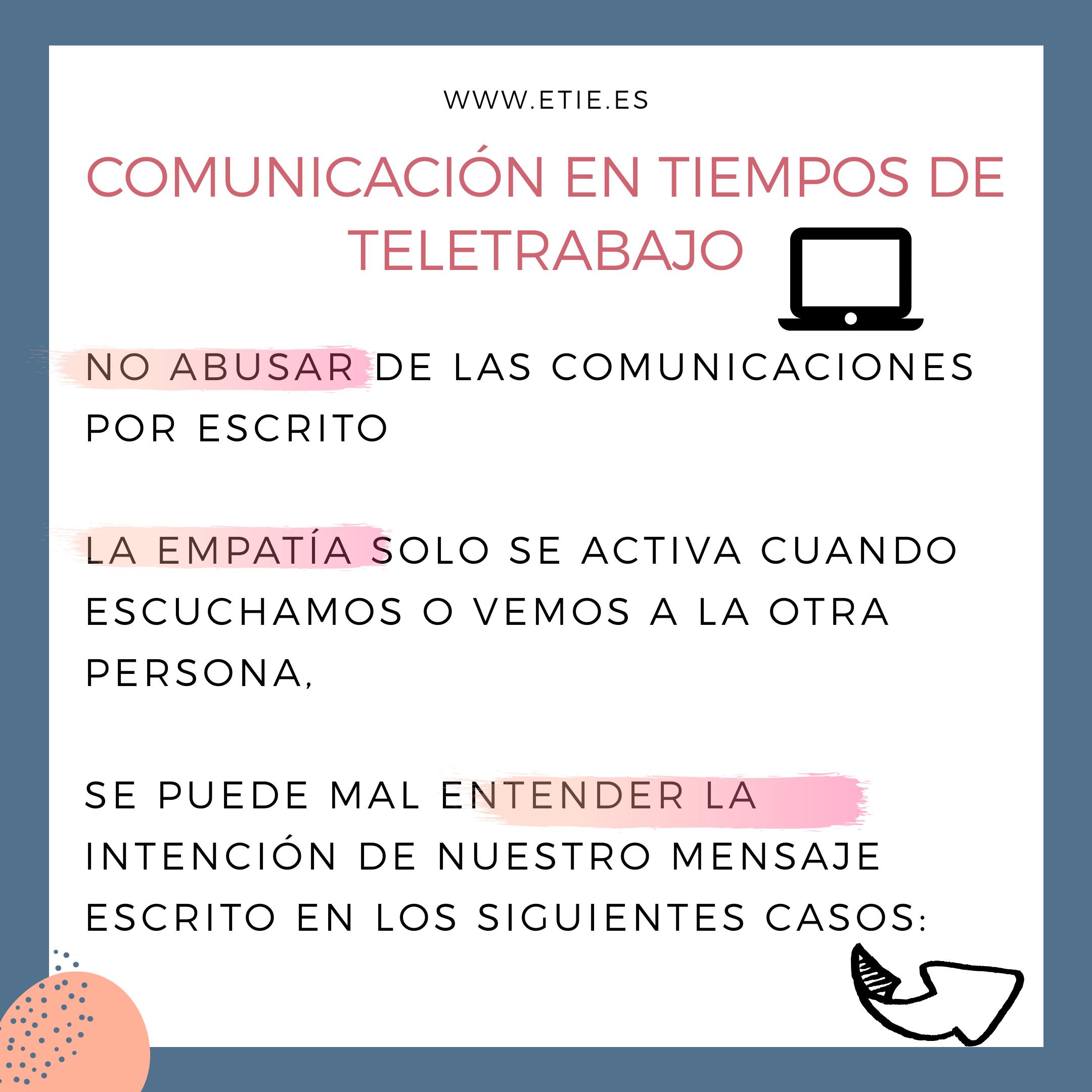 COMUNICACIÓN EFECTIVA EN EL TELETRABAJO